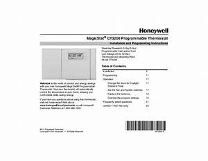 Honeywell Magicstat Ct3200 Programmable Thermostat