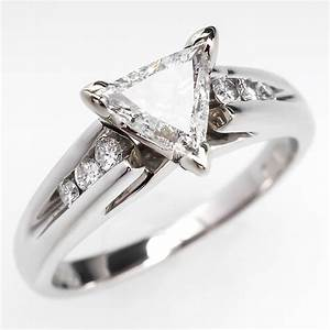 triangle trillion brilliant cut diamond engagement ring With trillion cut wedding rings