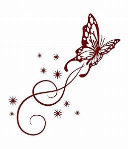 Unique Butterfly Swirls Clipart Cdr