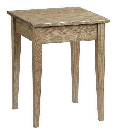 Small Shaker End Table Without Drawer  Peaceful Valley