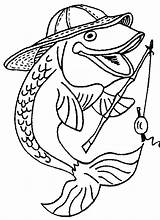 Fishing Coloring Pole Pages Getdrawings sketch template