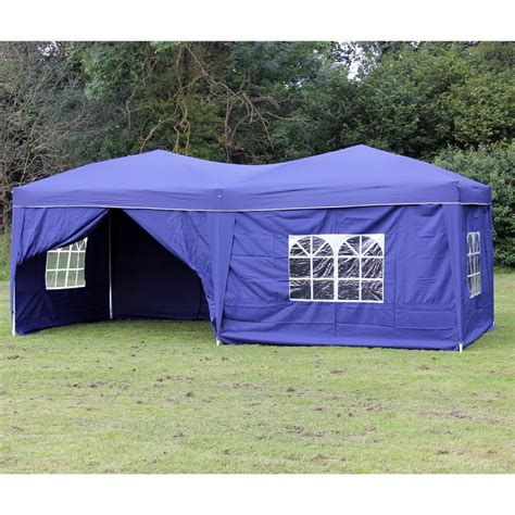 palm springs blue pop  canopy gazebo party tent   side walls  jetcom