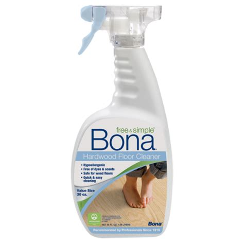 what product to use to clean hardwood floors bona free simple 174 hardwood floor cleaner 36 oz bona us