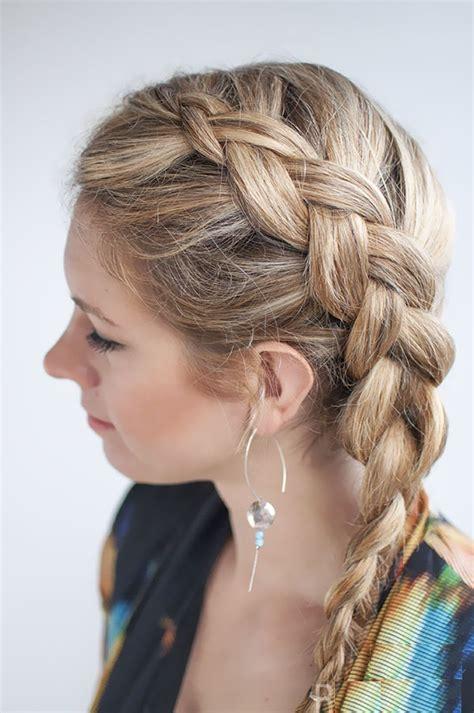 side braided ponytail for medium length hair fmag com