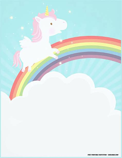 unicorn template free printable unicorn birthday invitation template bagvania free printable invitation template