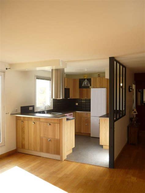 cuisine atelier modification des cloisons pour création d 39 une cuisine ouverte avec plan bar qui sépare du séjour