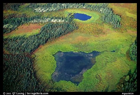 picturephoto aerial view  lake tundra  taiga