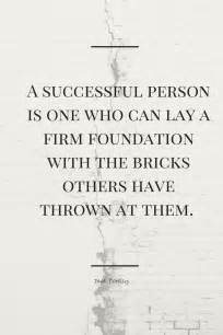 Quote with the Firm Foundation Bricks