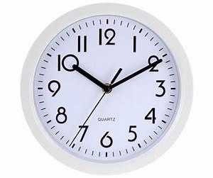 Horloge Pas Cher : horloge pendule murale design city quartz blanc 7653 ~ Teatrodelosmanantiales.com Idées de Décoration