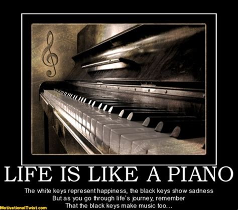 Piano Meme - life is like a piano the white keys represent happiness the black keys show sadness but as