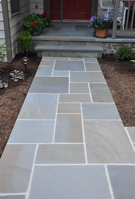 awesome bluestone pavers for pathway in patio design ideas