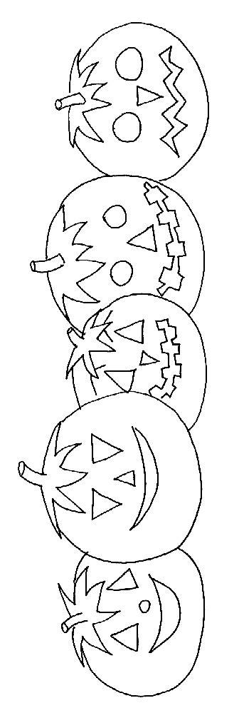Coloriage d Halloween : les citrouilles Halloween Tête à
