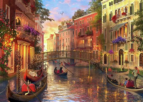 sunset  venice drawing  dominic davison