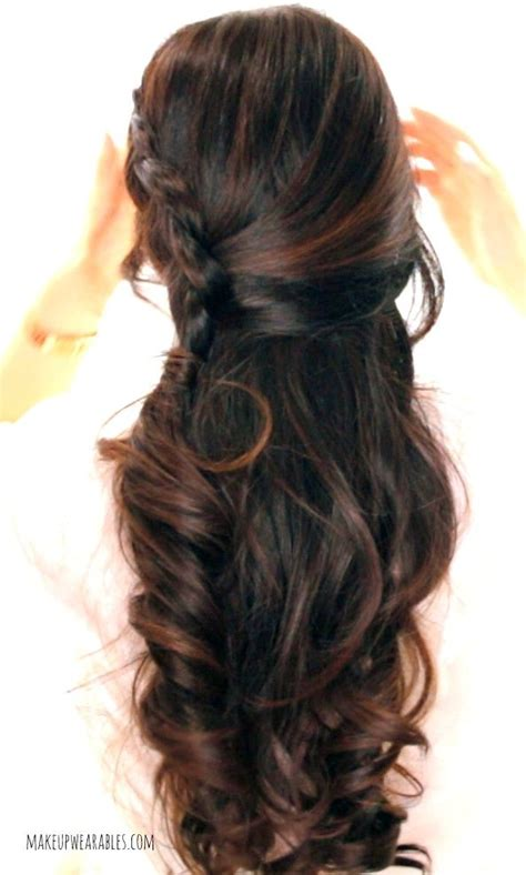 cute braided hairstyle for medium long hair tutorials