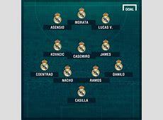 Alineación del Real Madrid ante el Granada Lesionados