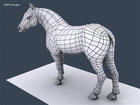 horse model wireframe   sanchezclaire  deviantart