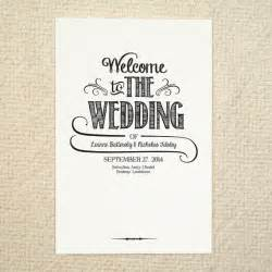 printable wedding program fans diy wedding program order of service handlettered
