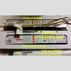 How To Replace A T8 Electronic Kitchen Light Ballast  Youtube