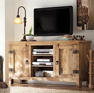 Meuble Tv Rustique : le meuble t l en 50 photos des id es inspirantes ~ Nature-et-papiers.com Idées de Décoration