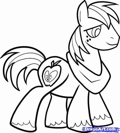 Mac Macintosh Draw Step Pages Colouring Pony