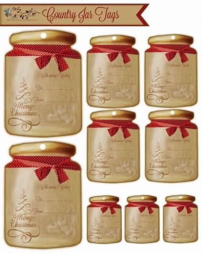 Christmas Country Jars Jar Tags Gift Believe