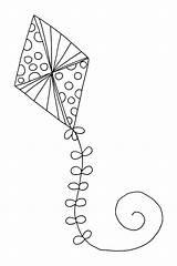 Kite Coloring Pages Printable Flying Drawing Kites Getdrawings Chinese Getcolorings Expert sketch template