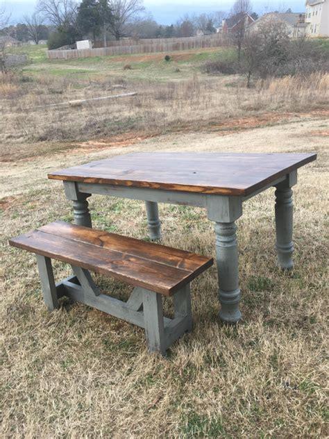 turned leg farmhouse table farmhouse table rustic turned leg by boardmancowoodworks