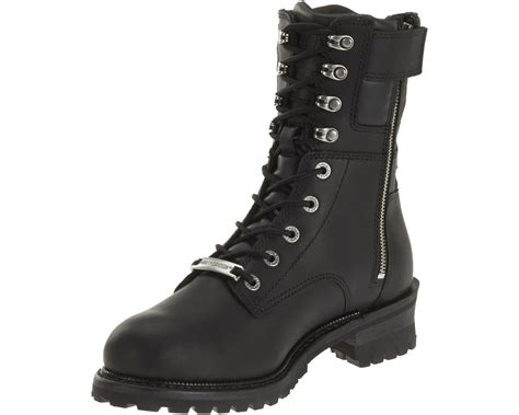 Motorcycle Boots : Harley-davidson Men's Elson Black Leather Motorcycle Boots
