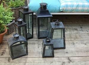 Grande Lanterne Deco : des lanternes en m tal version noire d 39 un c t ou de l 39 autre ~ Teatrodelosmanantiales.com Idées de Décoration