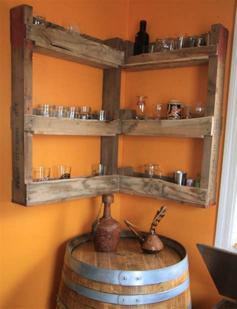 Make Liquor Cabinet Ideas by Barrel Corner Table And Diy Wall Mounted Liquor Cabinet