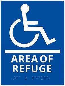 Alpha Communications U2122 Rsn7044 Area Of Refuge Wall Sign