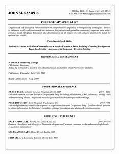 professional resume cover letter sample corresponding With cover letter for phlebotomy job