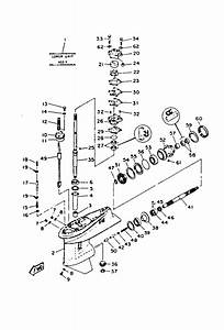 1991 Yamaha Lower Drive 1 Parts For 40 Hp 40elrp Outboard Motor