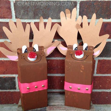 milk carton reindeer christmas craft for kids crafty morning