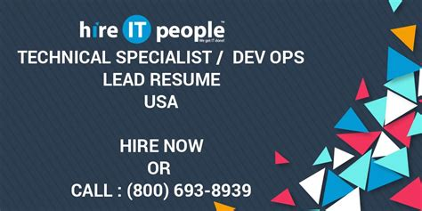 technical specialist dev ops lead resume hire