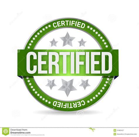 Certified Background Certified St Seal Illustration Design Stock