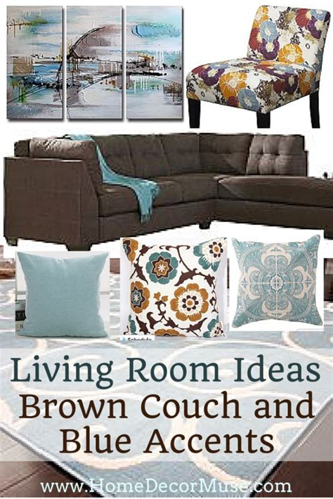 Decorating Ideas For Living Room With Blue Sofa by Brown Sectional Sofa Plus Blue Living Room Inspiration