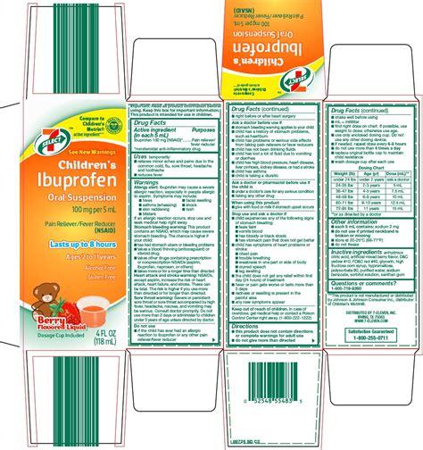 Dailymed 7 Select Childrens Ibuprofen Ibuprofen Suspension