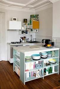 La cuisine equipee avec ilot central 66 idees en photos for Petit ilot de cuisine