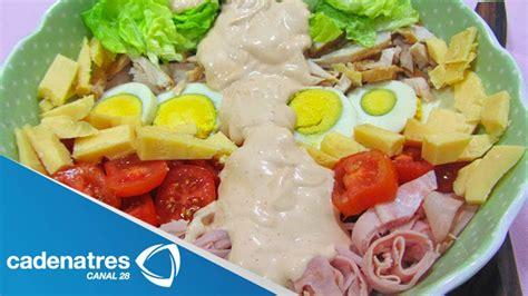 receta  preparar ensalada del chef ensalada del chef