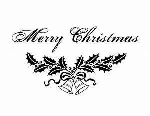 Merry Christmas Clip Art Black White Clipart - Free Clipart
