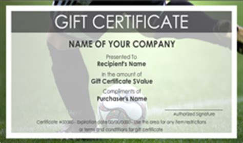 Personal Trainer Gift Certificate Template by 28 Images Of Soccer Printable Gift Certificate Template
