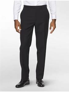 Size Chart Calvin Klein Mens Calvin Klein Clothing Slim Black Stripe Suit Pants