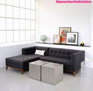 black fabric apartment sectional sofa l shaped with tufted With black fabric sectional sofa with chaise