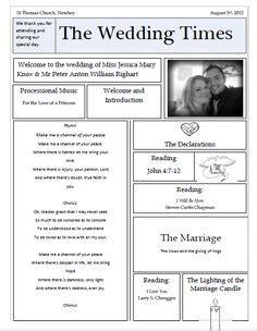 images  wedding ceremony program ideas