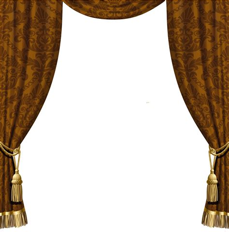 transparent decorative curtains with gold tassels