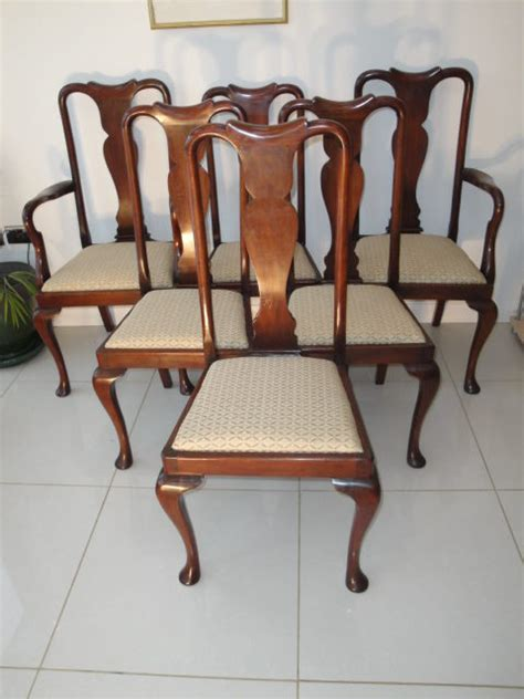 set 6 antique mahogany dining chairs antiques atlas