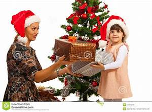 Little Girl Receive Christmas Gifts Stock Photo - Image ...