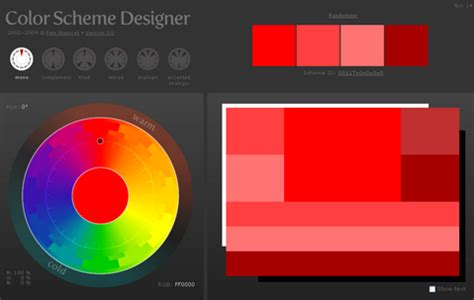 color scheme designer 3 color scheme designer version 3 0 web resources webappers