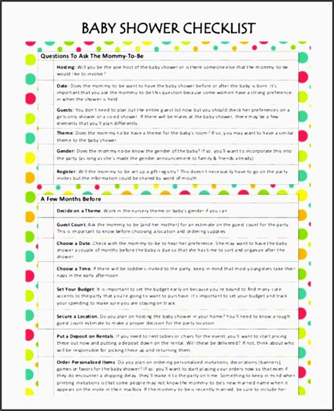 Printable Baby Shower Planner Template 8 Free Pdf 8 Baby Shower Planner In Word Sletemplatess